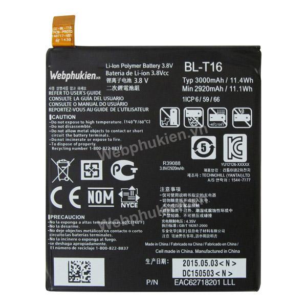 Pin LG G Flex 2 H950 LS996 H959 (BL-T16) - 3000mAh Original Battery