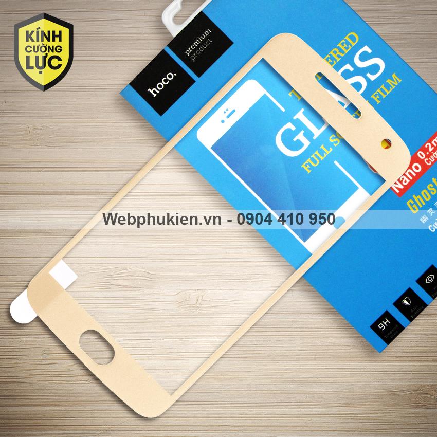 Miếng dán cường lực Motorola Moto G5 Plus hiệu HOCO Full màn hình (Vàng)