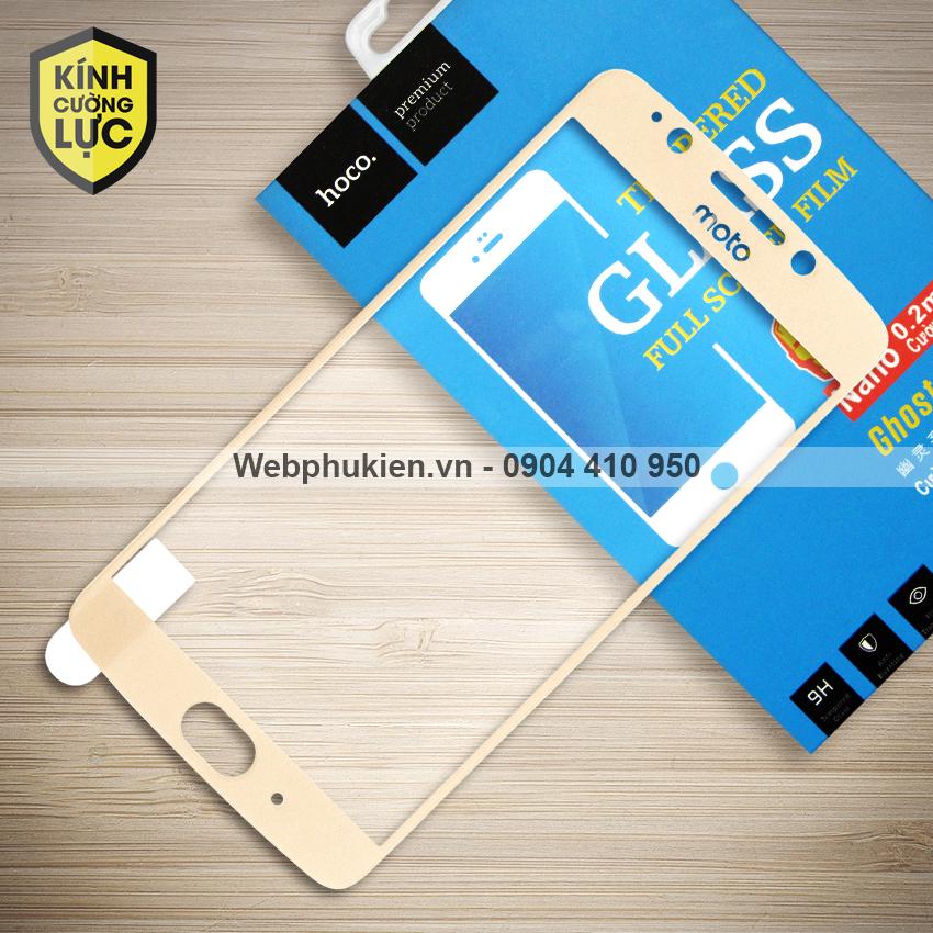 Miếng dán cường lực Motorola Moto G5 hiệu HOCO Full màn hình (Vàng)