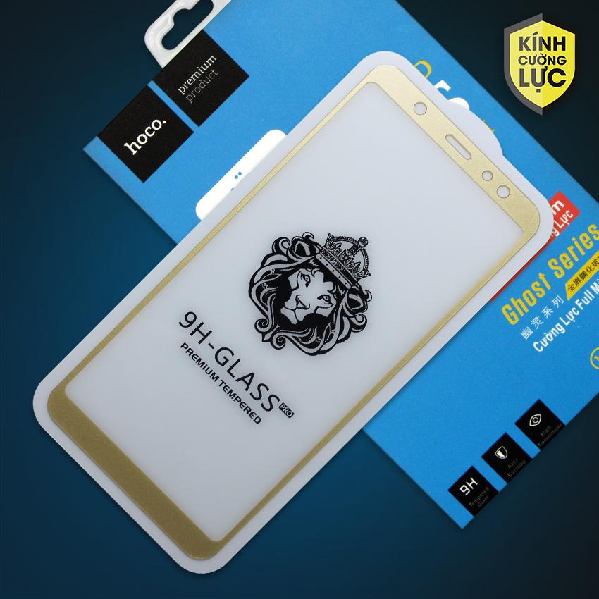 Miếng dán cường lực Samsung Galaxy A6 Plus hiệu HOCO Full màn hình (Vàng)
