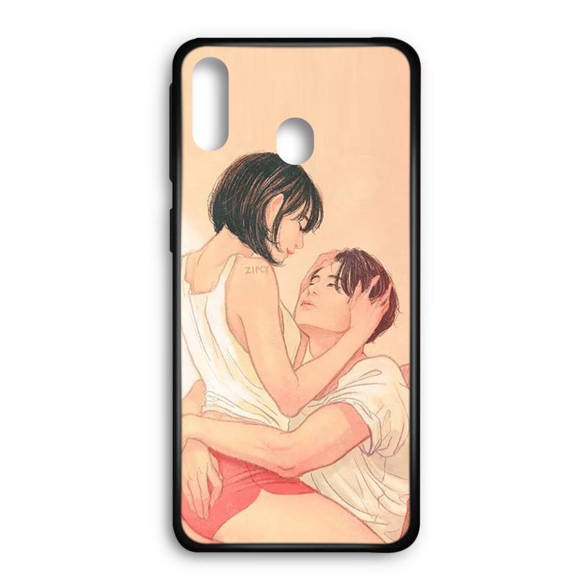 Ốp lưng kính in hình cho Samsung Galaxy M20 Valentine (mẫu 44) - Hàng chính hãng