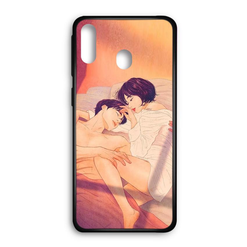 Ốp lưng kính in hình cho Samsung Galaxy M20 Valentine (mẫu 47) - Hàng chính hãng