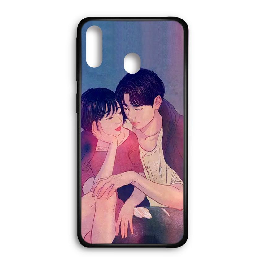 Ốp lưng kính in hình cho Samsung Galaxy M20 Valentine (mẫu 54) - Hàng chính hãng