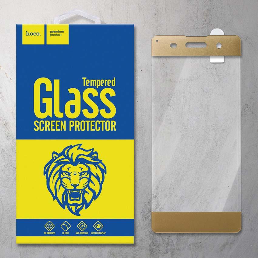 Miếng dán cường lực Sony Xperia XA F3116 hiệu HOCO Full màn hình (Vàng)