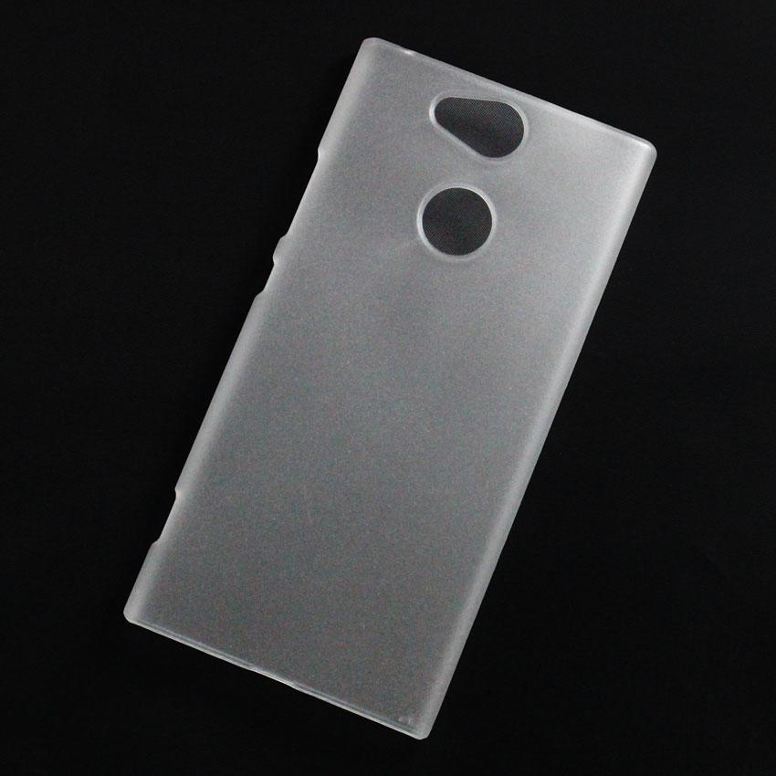 Ốp lưng nhựa cứng Sony Xperia XA2 nhám trong