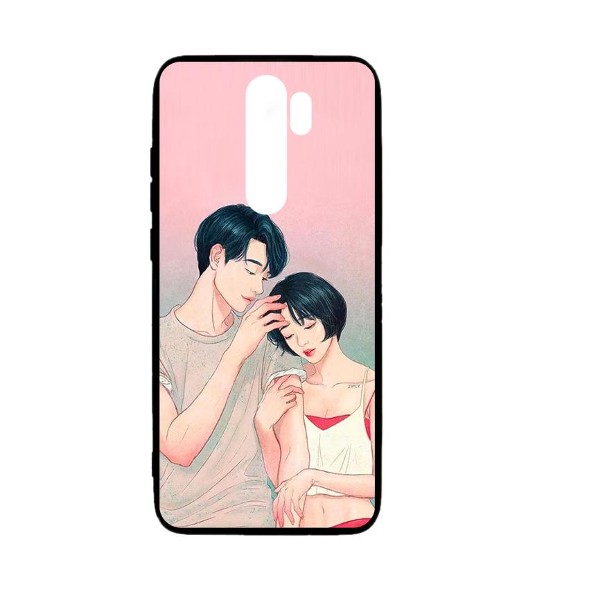 Ốp lưng kính in hình cho Xiaomi Redmi Note 8 Pro Valentine (mẫu 49) - Hàng chính hãng