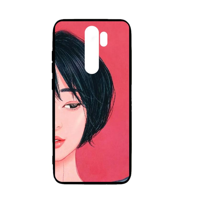 Ốp lưng kính in hình cho Xiaomi Redmi Note 8 Pro Valentine (mẫu 51) - Hàng chính hãng