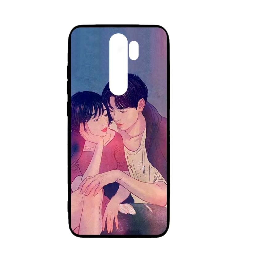 Ốp lưng kính in hình cho Xiaomi Redmi Note 8 Pro Valentine (mẫu 54) - Hàng chính hãng