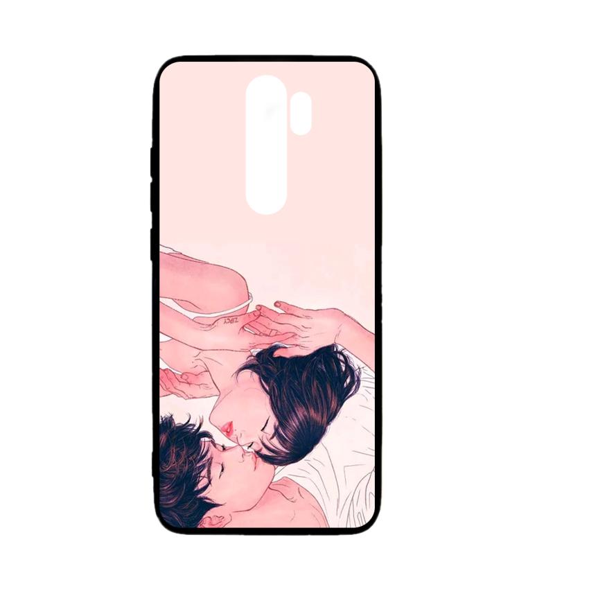 Ốp lưng kính in hình cho Xiaomi Redmi Note 8 Pro Valentine (mẫu 55) - Hàng chính hãng