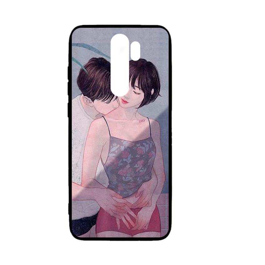 Ốp lưng kính in hình cho Xiaomi Redmi Note 8 Pro Valentine (mẫu 57) - Hàng chính hãng
