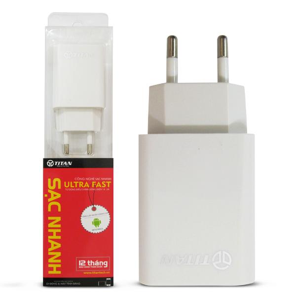 Bộ cốc sạc củ sạc nhanh TITAN 5V-2A (Model TITAN-SA05) cho Android, Windowsphone